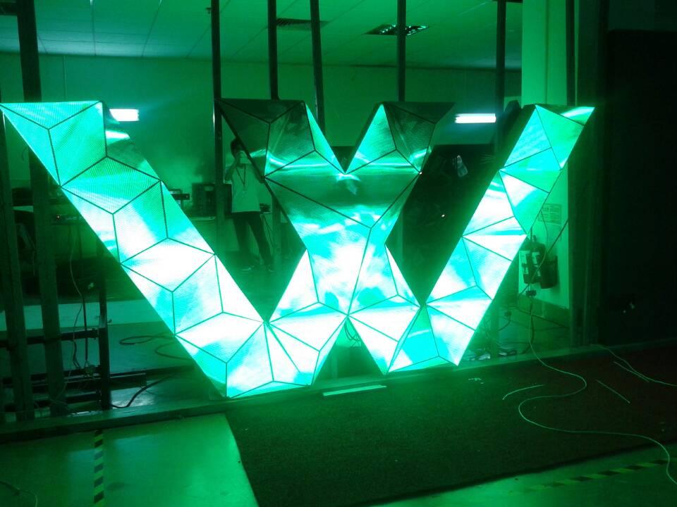 led异形屏(百变造型屏) - 深圳市明兴光电子科技有限