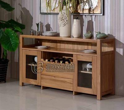 榆木餐边柜全实木橱柜高清图片 高清大图