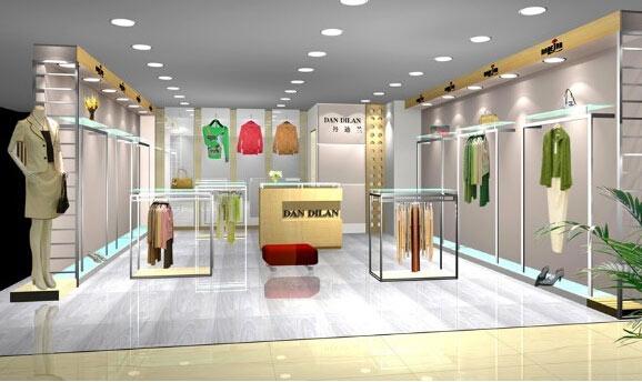 服装展柜制作设计上注意细节服装摆放亮眼