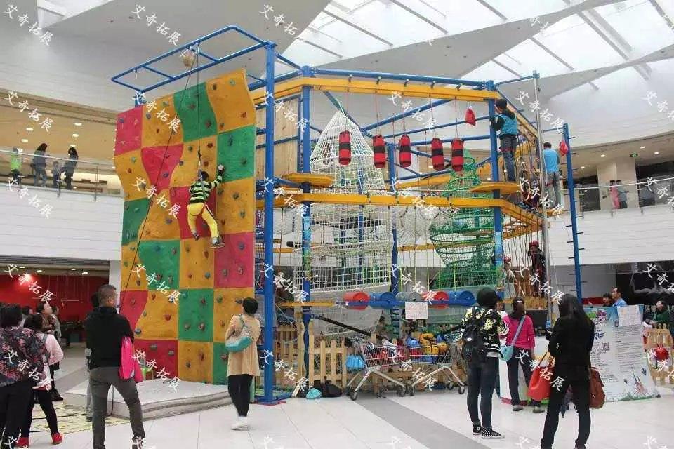 儿童拓展器械就是针对商场消费者而设计的