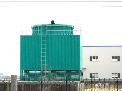 方形逆流式冷却塔高清大图,本图片由河北枣强宏大玻璃钢格栅制品厂